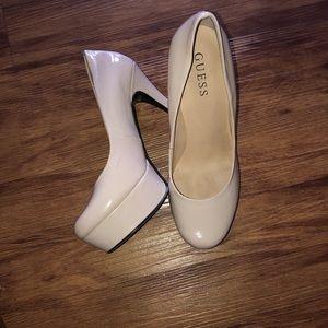 Guess platforms heels